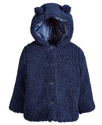 Куртка из шерпы с капюшоном для маленьких девочек, созданная для Macy's First Impressions