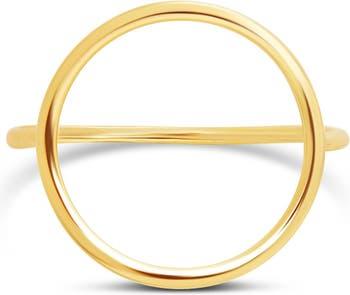 Кольцо с открытым кругом из 14-каратного золота с вермеилом Sterling Forever