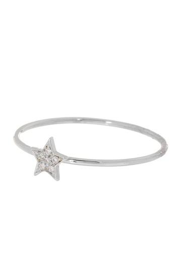 Кольцо Petite Star из белого золота 18 карат с бриллиантом - 0,02 карата Bony Levy