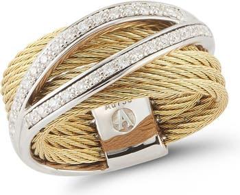 Кабель из белого золота 18 карат с бриллиантовым кольцом - 0,27 карата ALOR