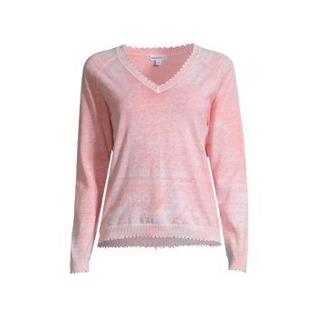 Кашемировый свитер с потертостями и отбеливателем Minnie Rose