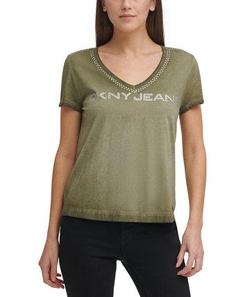 Nailhead Logo T-Shirt DKNY Jeans