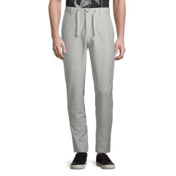 Slim Straight-Fit Drawstring Pants KINETIX