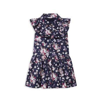 Baby's, Little Girl's & amp; Платье из хлопкового поплина с цветочным рисунком для девочек Janie and Jack