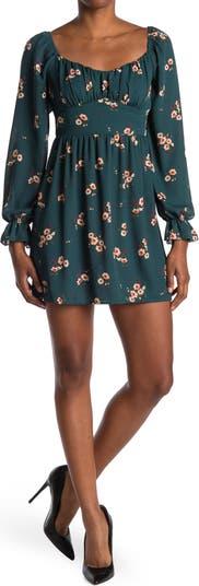 Плиссированное платье с цветочным принтом KENEDIK