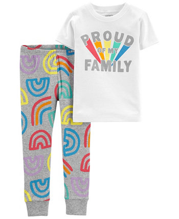 Пижама Pride Snug Fit для маленьких мальчиков и девочек, комплект из 2 предметов Carters
