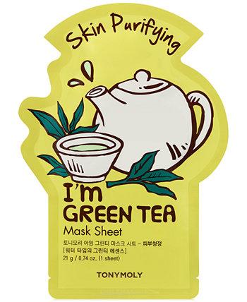 Листовая маска I'm Green Tea Sheet Mask - (Очищение кожи) TONYMOLY