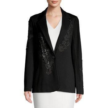 Пиджак из понте с цветочной аппликацией Bailey 44