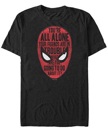 Мужская Spider-Man вдали от дома Big Face Quotes, футболка с коротким рукавом Marvel