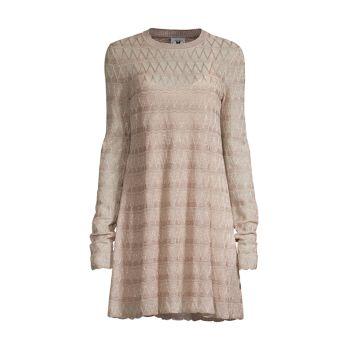 Вязаное мини-платье с эффектом металлик M Missoni
