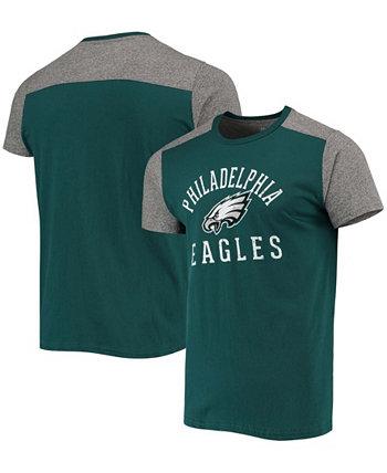 Men's Midnight Green, Gray Philadelphia Eagles Field Goal Slub T-shirt Majestic