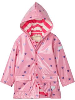 Scattered Hearts Glitter Raincoat (Toddler/Little Kids/Big Kids) Hatley Kids