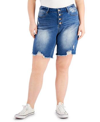 Модные рваные шорты больших размеров на пуговицах Dollhouse
