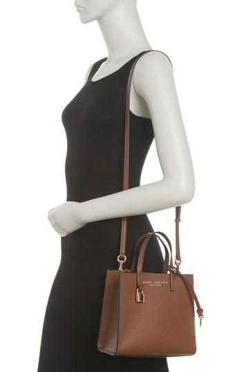 Миниатюрная кожаная сумка-тоут с покрытием Grind Marc Jacobs