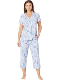 Миниатюрная Azure Whisper с коротким рукавом подруги в длинном пижаме Karen Neuburger