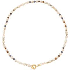 Ожерелье из смеси жемчуга и камня Chan Luu