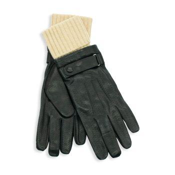 Ремень из кожи и кожи Перчатки на шерстяной подкладке Portolano