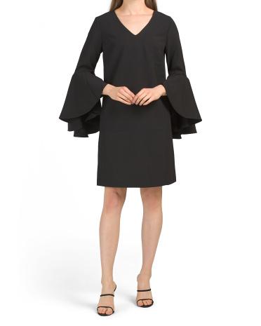 Cascade Bell Sleeve Cocktail Dress CATHERINE Catherine Malandrino