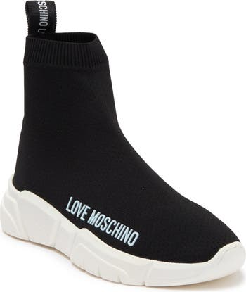 High Top Sock Sneaker LOVE Moschino