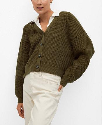 Women's Cotton-Blend Cardigan MANGO