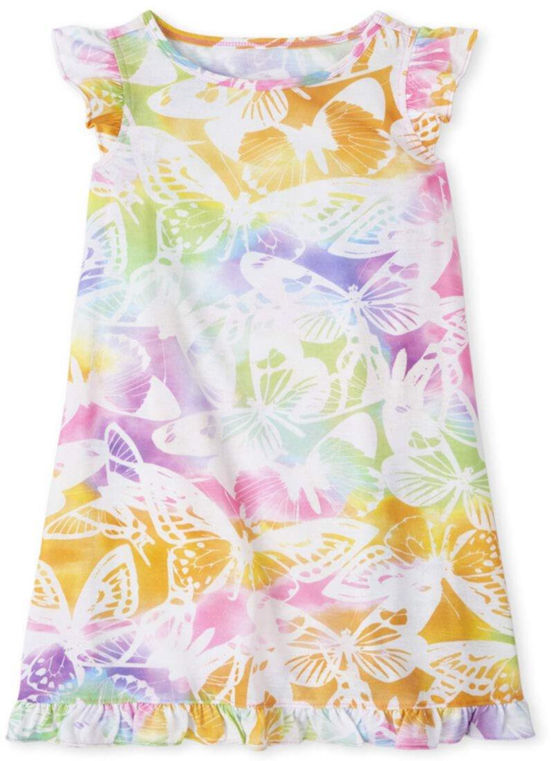 Ночная рубашка с радужными бабочками (для маленьких и больших детей) The Children's Place