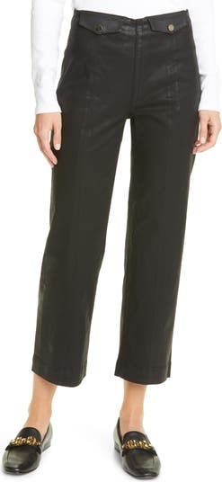 Укороченные джинсы Brinley с высокой талией с покрытием VERONICA BEARD