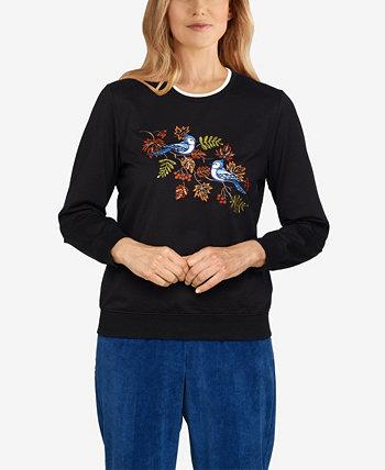 Пуловер больших размеров Classics Birds Alfred Dunner