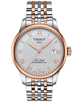 Мужские швейцарские автоматические двухцветные часы-браслет из нержавеющей стали Le Locle 39 мм Tissot