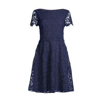 Цветочное кружевное платье SHANI