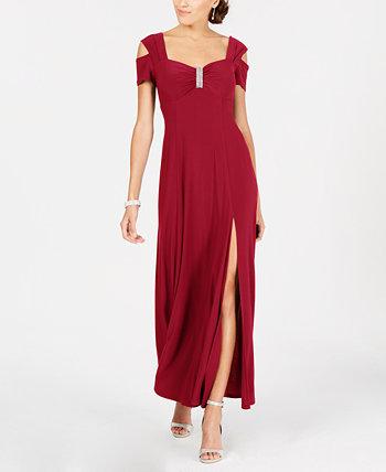 Платье с открытыми плечами R & M Richards