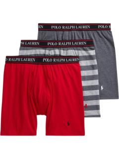 Классические трусы-боксеры стрейч с длинными штанинами Ralph Lauren