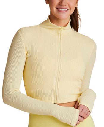 Rise Cropped Ribbed Sweatshirt ALALA