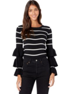 Укороченный свитер с длинными рукавами в рубчик Chaser