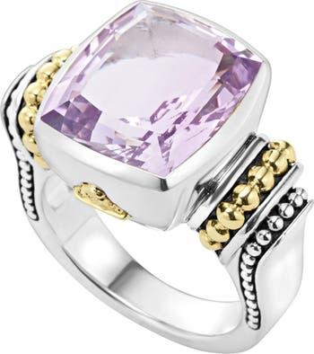 Кольцо из золота 18 карат и серебра с драгоценными камнями - размер 7 LAGOS