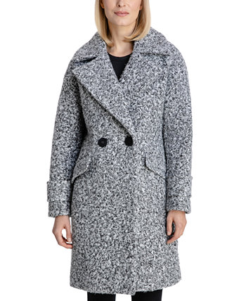 Double-Breasted Bouclé Walker Coat, Created for Macy's BCBGeneration