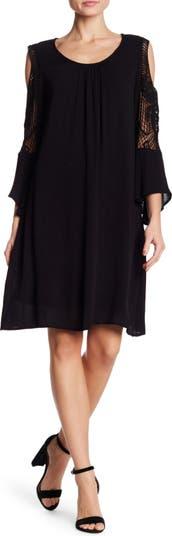 Crochet Cold Shoulder Dress Nina Leonard