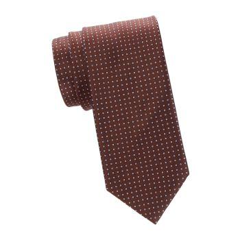 Шелковый галстук с геометрическим принтом Brioni