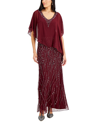 Асимметричное платье из бисера J Kara