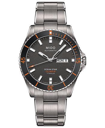 Мужские швейцарские автоматические титановые часы-браслет Ocean Star Captain V 42,5 мм MIDO