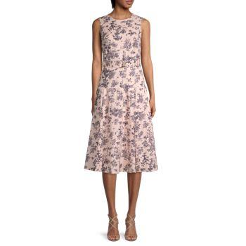 Платье-трапеция с цветочным принтом Tommy Hilfiger
