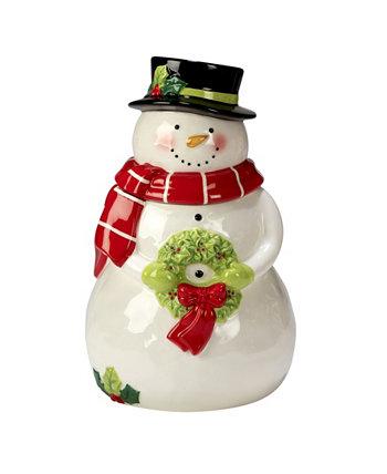Праздничный волшебный снеговик 3D-баночка для печенья Certified International