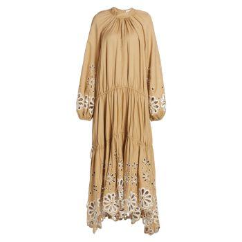 Макси-платье Anisa Broderie Anglaise Cascade Jonathan Simkhai
