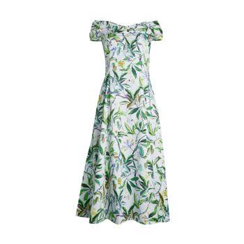 Floral Off-The-Shoulder Dress Jason Wu