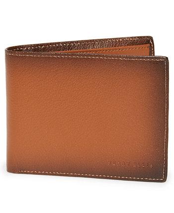 Мужской кошелек из полированной кожи двойного сложения Perry Ellis Portfolio