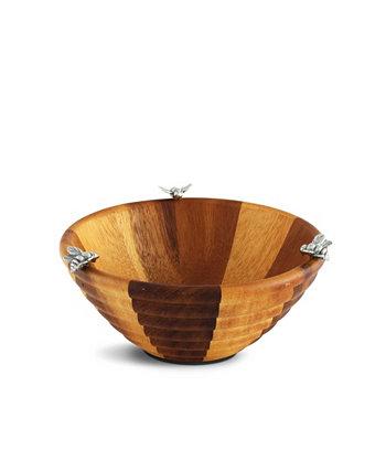 Деревянная салатница из пчелиного улья - порция на одну порцию Vagabond House