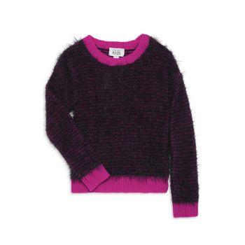 Полосатый свитер для девочек Fuzzy Feeder Autumn Cashmere