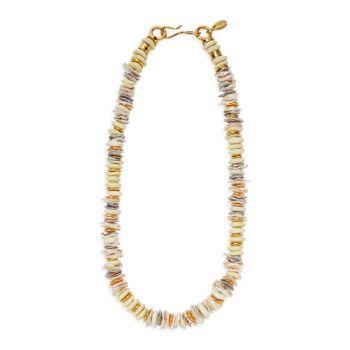 Позолоченное 18 карат ожерелье с изображением Илиады с несколькими камнями Lizzie Fortunato