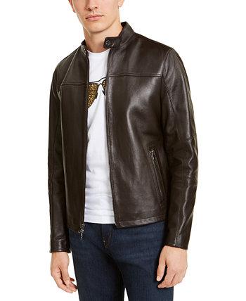 Мужская кожаная куртка Racer, созданная для Macy's Michael Kors