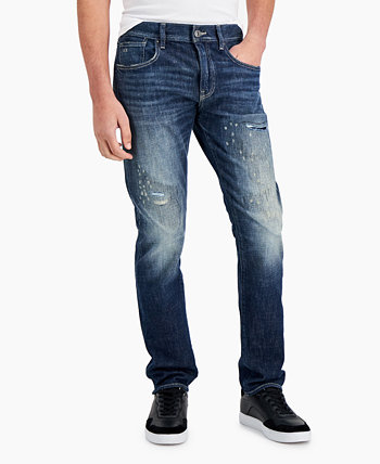 Мужские рваные джинсы Slim-Fit Armani Exchange