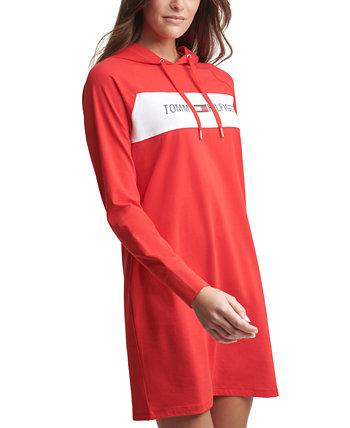 Платье с капюшоном и логотипом Tommy Hilfiger